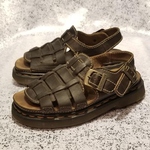 b773b7560faa4 Dr. Martens Shoes | Dr Marten Fisherman Sandal Dark Brown Grizzly ...